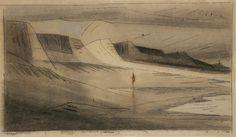 lyonel feininger - Beach of Dunes II