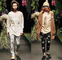 STOF 2014 Spring Summer Mens Runway Collection - Mercedes-Benz Fashion Week Tokyo Japan Hiroshi Tanida - Greenery Botanical Foliage Tropical...