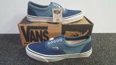 64aa8c4b59 Details about Vintage Vans shoes AUTHENTIC Blue made USA Mens Size 7 NOS  SK8 Hi Skool BMX