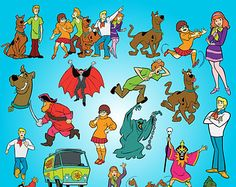 Scooby-Doo Clipart Party Digital Clipart Set Scooby Doo Clip Art Scrapbooking Invitations Printable Digital Graphic INSTANT DOWNLOAD 300 dpi