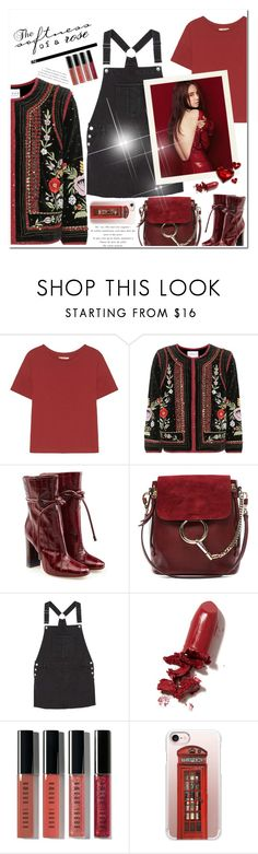 """""""Untitled #623"""" by beautifulplace ❤ liked on Polyvore featuring Velvet, Malone Souliers, Chloé, MANGO, LAQA & Co., Bobbi Brown Cosmetics and Casetify"""