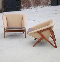 H. Brockmann Petersen; Teak 'Tipvogn' Lounge Chairs for Louis G. Thiersen & Søn, 1953.