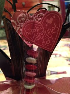 Candy bag topper for Valentine's Candy Favors, Candy Bags, Cowboy Boots, 3 D, Valentines Day, Paper Crafts, Gift Ideas, Gifts, Shoes