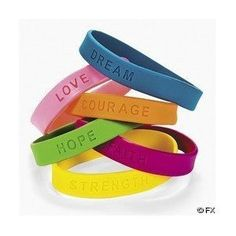 Amazon.com: 24 Inspirational Sayings Bracelets: Toys & Games #kids