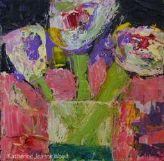 Katherine Jeanne Wood - 6x6 Flower Series No 48 01