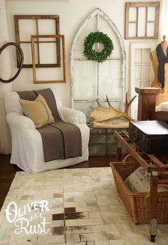 Vintage White Master Bedroom