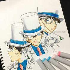 やまぴさんはInstagramを利用しています:「大変大変お待たせしました!! (@aptx4869_conan)さんのリクエストでキッド様です♡ 描くのが苦手なキッドで何か変!って 思うところもあるかもです…。 2枚目はおまけでキッドのダミー人形☆ 可愛いなって思ってつい…笑 妹さんにも見ていただけると嬉しいです😊…」 Detective Conan Shinichi, Kaito Kuroba, Kaito Kid, Gosho Aoyama, Magic Kaito, Case Closed, Anime Love, Pixel Art, Manga Anime