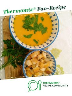 Recipe butternut squash soup by Francesca, learn to make this recipe easily in your kitchen machine and discover other Thermomix recipes in Soups. Butternut Soup, Butternut Squash, Butter Squash Soup, Kitchen Machine, Recipe Community, Food N, Soup Recipes, Projects To Try, Vegan