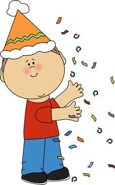 Kid with Birthday Confetti