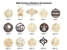 Modern Christmas Ornaments Image Result For Mid Century Numbers Holiday  Holiday Card .