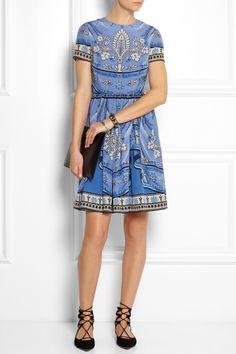 ALICE by Temperley|Pepita printed silk dress|NET-A-PORTER.COM