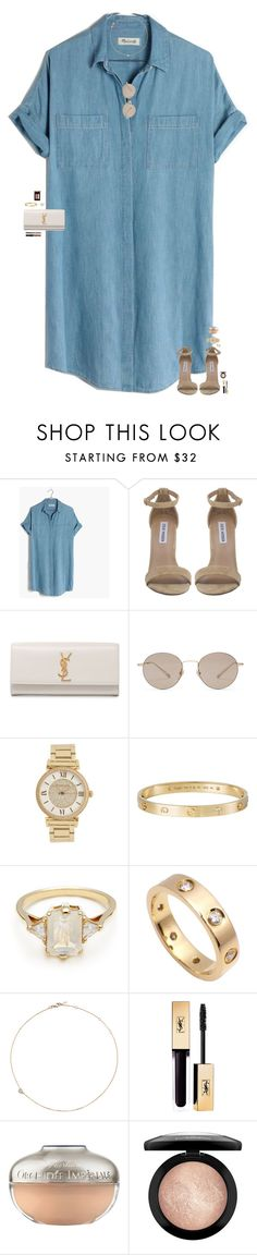 """I'm a total fool."" by maggie-prep ❤ liked on Polyvore featuring Madewell, Steve Madden, Yves Saint Laurent, Gucci, Michael Kors, Cartier, BEA, Jack Vartanian, Guerlain and MAC Cosmetics"