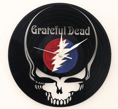Grateful Dead vinyl clock by artwoodstock on Etsy
