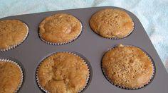 Peach Pie Muffins II Recipe Breads, Desserts with whole wheat pastry flour, sugar, eggs, unsweetened applesauce, greek yogurt, salt, cinnamon, baking soda, vanilla extract, peaches