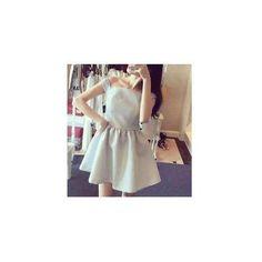 Off-Shoulder Short Sleeved Dress ($21) ❤ liked on Polyvore