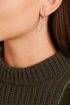 ANISSA KERMICHE Fashion Earrings, Fashion Jewelry, Women Jewelry, Fine Jewelry, Jewellery, Gold Diamond Earrings, 14 Karat Gold, Beautiful Earrings, Ear Piercings