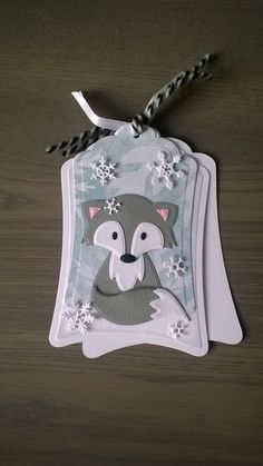 Christmas Paper Crafts, Christmas Cards To Make, Christmas Gift Tags, Xmas Cards, Marianne Design Cards, Karten Diy, Scrapbooking, Candy Cards, Animal Cards