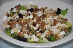 Ensalada templada de nueces y queso de cabra | Cooking Day by Day