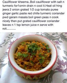 Cauliflower keema
