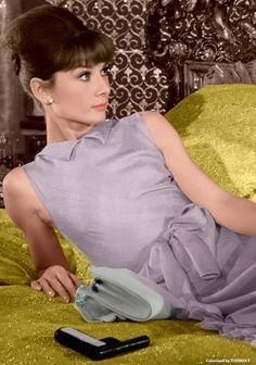Audrey Hepburn in Paris When It Sizzles (1964).