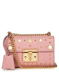 GUCCI Padlock Small Embellished Leather Cross-Body Bag. #gucci #bags #shoulder bags #leather #lining #