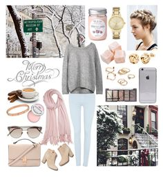 """""""Untitled #75"""" by nehaiyulia ❤ liked on Polyvore featuring moda, 7 For All Mankind, Laurence Dacade, Forever 21, H&M, Calypso St. Barth, Kate Spade, Sephora Collection, Linda Farrow y Cartier"""