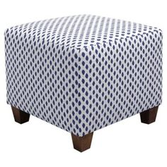 Check out this item at One Kings Lane! Berit Square Ottoman, Blue
