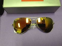 Ray-Ban RB3025 58mm 112 69 Gold   Orange Flash Lenses Aviator Sunglasses Ray f44363cfcc