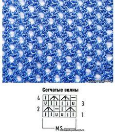 Сетчатые узоры спицами: подборка схем - Колибри Cетчатые узоры спицами