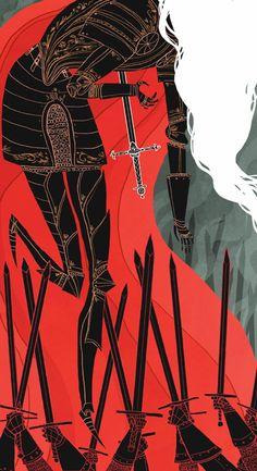 Knight of Swords by Noelle Stevenson. Society of Illustrators Student Scholarship Competition 2013.