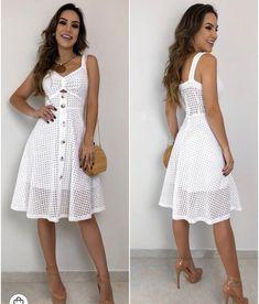 Simple Dresses, Cute Dresses, Beautiful Dresses, Casual Dresses, Short Dresses, White Dress Summer, Summer Dresses, Dress Outfits, Fashion Dresses