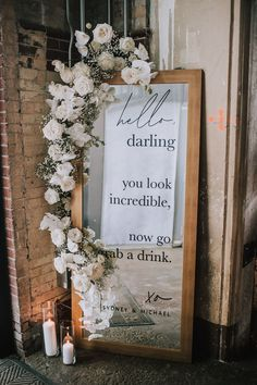 Dont mind if we do. 💁 Mirror selfies in this amazing reception detail would be 💯💯💯 . Floral Wedding, Diy Wedding, Wedding Flowers, Wedding Day, Wedding Photos, January Wedding, Post Wedding, Bouquet Wedding, Wedding Nails