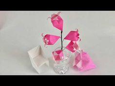 【折り紙】実物の花を見ながら『カンパニュラ』を折ってみた Bell Flower - YouTube