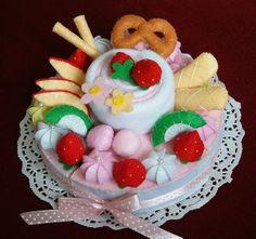 felt cake by fairyfox, via Flickr