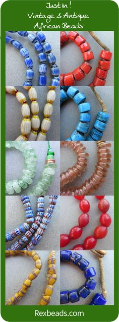 Huge shipment of gorgeous African beads from Ghana, Nigeria and more. Choose now for best selection! #Africa #bead #beading #beads #crafting #dyi #jewelry #making