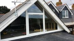 Glass gable and double pitched roof dormer