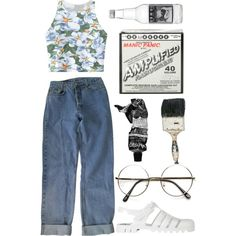 Those warm summer days are fading away from us by scstyle19 on Polyvore featuring polyvore, fashion, style, Chicnova Fashion, Levi's, JuJu, Aesop and Manic Panic