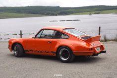 Nice shot of @garyince 's 911 Carrera RSR evocation. #porsche #porsche911 #carrera #carrerars #911 #911carrera #classic911 #classicporsche #porscheclassic #aircooled #flatsix #fueil #instaporsche #cargram #classiccar #sportscar #megaphones #ducktail by fueil_auto