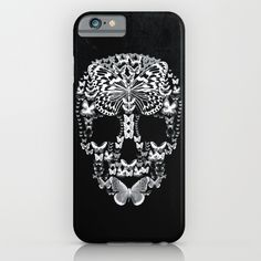 #iPhoneCases #Skull #Design #CraniumButterflies Cranium Butterflies B&W Option iPhone 6S Slim edition shown above - other phone cases and styles available  Protect your iPhone with a one-piece, impact resistant, flexible plastic hard case featuring an extremely slim profile. Simply snap the case onto your iPhone for solid protection and direct access to all device features.