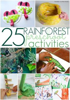 Anaconda Counting Busy Bag, The Umbrella Rainforest Activities for Preschoolers - Pre-K Pages. A collection of the 25 best preschool activities for a rainforest theme in your preschool or kindergarten classroom! Rainforest Preschool, Rainforest Crafts, Rainforest Classroom, Preschool Jungle, Jungle Crafts, Rainforest Habitat, Rainforest Theme, Rainforest Animals, Preschool Themes