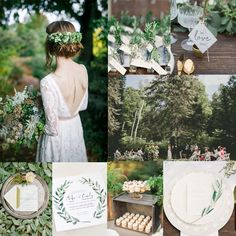 Inspiration for Fresh green botanical and boho summer wedding