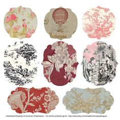 Toile, How I Love Thee … Let Me Count the Ways | Lorraine's Oo La La ~ free for personal use