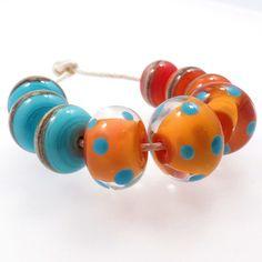Summertime  Lampwork Beads Set SRA GBUK £10.00