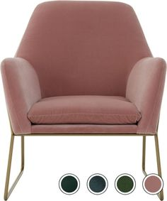 Frame Armchair, Blush Pink Cotton Velvet from Made.com. Express delivery. Soft curves and a sleek contemporary shape are integral to the charm of ou..