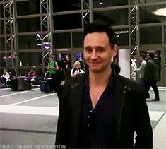 Who doesn't want a Hiddles smile to brighten their day? (gif)
