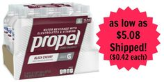 Propel Black Cherry 12-Pack as low as $5.08 Shipped! ($0.42 each)