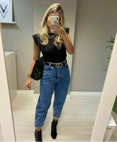 Cute Casual Outfits, Stylish Outfits, Fall Outfits, Casual Chic, Look Fashion, Fashion Outfits, Womens Fashion, Looks Pinterest, Look Jean