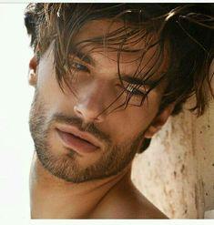 Finding The Best Short Haircuts For Men Beard And Mustache Styles, Beard No Mustache, Beard Styles, Hair Styles, Beautiful Men Faces, Beautiful Lips, Gorgeous Men, Male Model Face, Male Face
