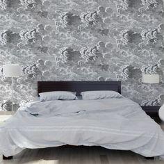 Fornasetti wallpaper on pinterest cole and son gio - Papier peint foret noir et blanc ...