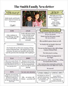 39 Best Memory Family Newsletter Images Christmas Letters